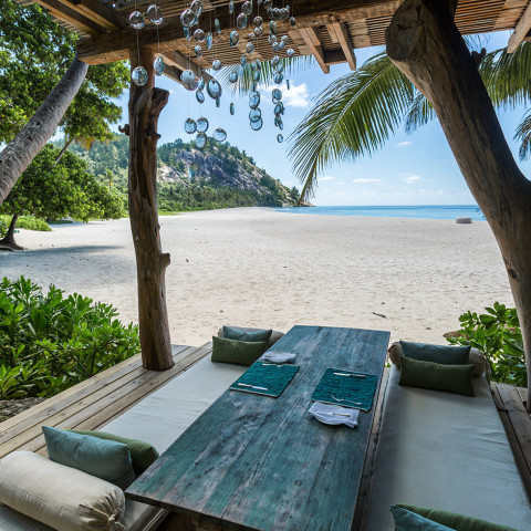 Step out onto the pristine beaches after a fine dining experience