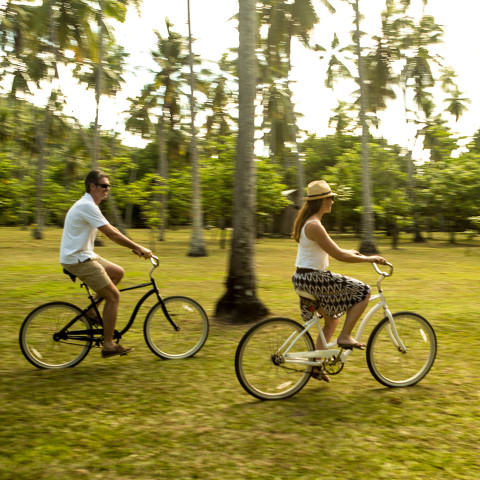 Explore the island at your own pace with your bike