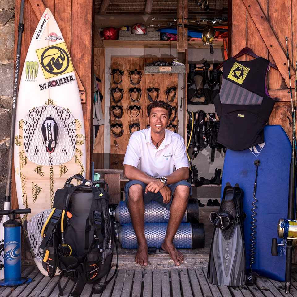 From surfing to diving any equipment available on North Island