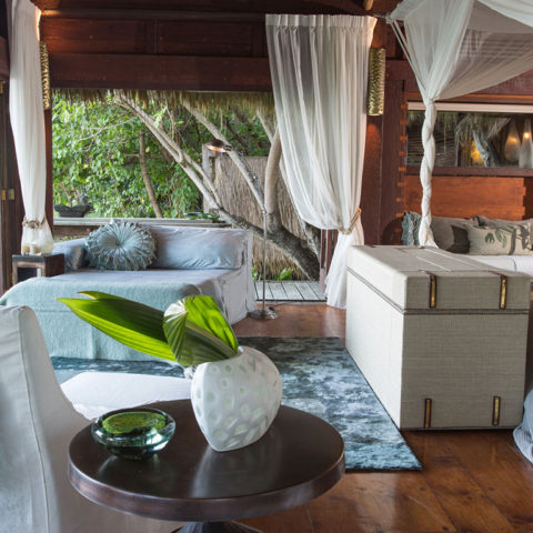 Tranquil settings help you relax the moment you step into your secluded villa