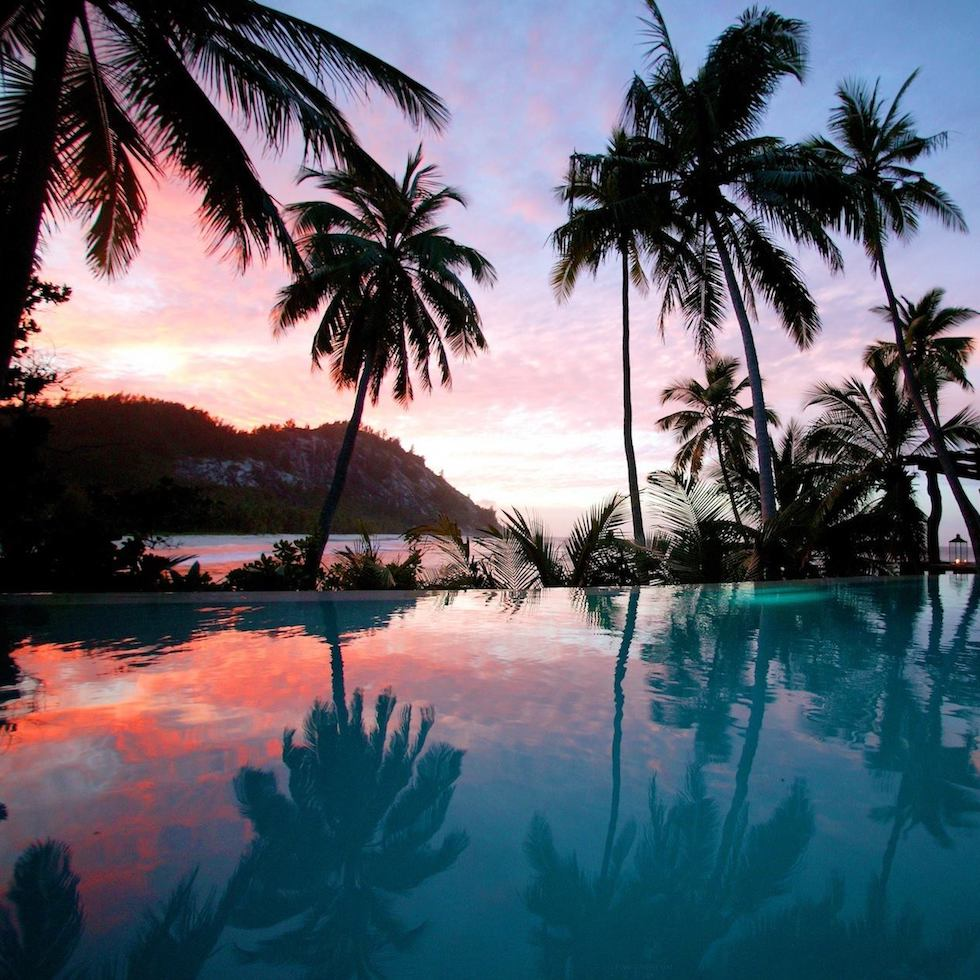 Island Beach Sunset: North Island, Seychelles